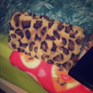 It's a cheetah printed bag it's in good condition.